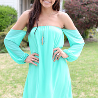 Devoted to You Dress - Mint