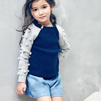 Nellystella Snowdrop Sweater in Midnight Blue - N15F102