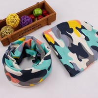 2017 New arrive beautiful style baby hat cotton scarf set child caps scarf baby cap