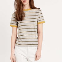 BDG Stripe Ringer Tee in Grey - Urban Outfitters