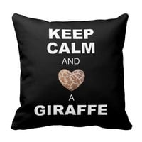 Keep Calm & Love a Giraffe Pillow