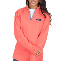 Lauren James Whitacre Pullover- Coral