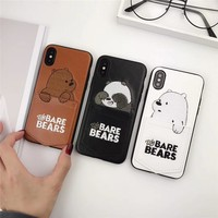 Pocket Bare Bears Leather Phone Case
