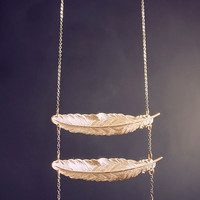 Ladder of Hope Feather Necklace - HOLIDAY SALE