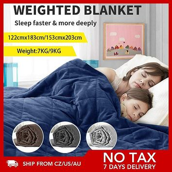 20/15lbs Weighted Blanket Heavy Comforter Donna Duvet Reduce Stress Quilt Promote Deep Sleep Weighted Blanket for Autism Anxiety