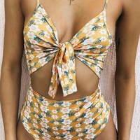 Bow Tie One Piece Swimsuit