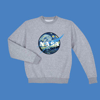 NASA Sweatshirt Starry night ART tumblr grunge 90s fashion