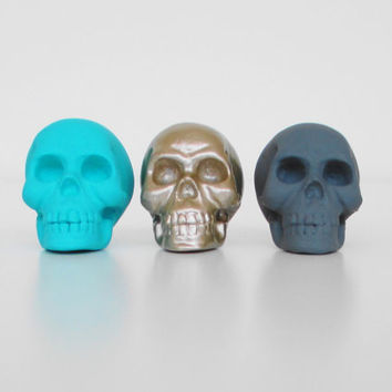 Skulls, Set 3, Skull Decor, Office, Skull, Home Decor, Skull Ornament, Skull Homewares