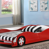 Red Night Racer Car Bed