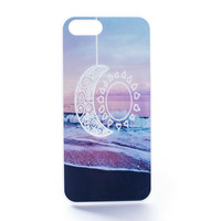 Hipster Beach Sun and Moon Case