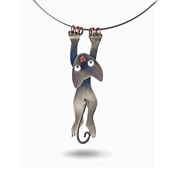 Hang In There Cat Necklace