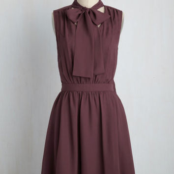 Give it Timeless Dress in Aubergine