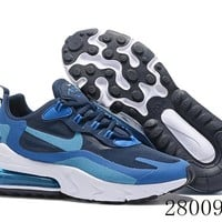 HCXX 19July 948 Nike Air Max 270 React AO4971-400 Blue Void Running Shoes Blue