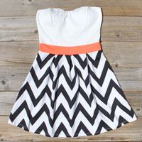 Sunset Chevron Dress