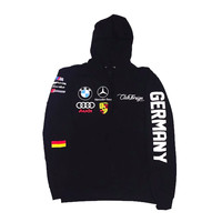 Club Foreign German Race Hoodie in Black
