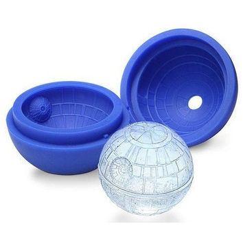 Creative Silicone Blue Wars Death Star Ball Ice Cube Mold Tray Desert Sphere Mould DIY Bar Party Cocktail