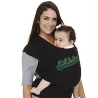 Moby® MLB™ Edition Oakland Athletics Wrap Baby Carrier in Black