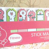 fitness Planner reminder diet planner sticky note exercise planner sticky flag weight loss journal schedule daily plan label on diet
