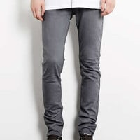Grey Stretch Skinny Jeans - Men's Jeans - Clothing