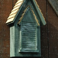 Weathered Grey Victorian Bat House
