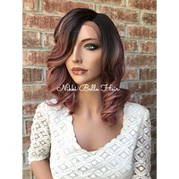 "Pink 12"" Lace Front Wig n21"
