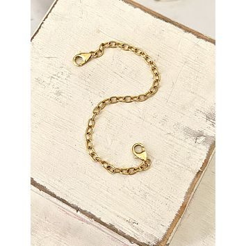 Necklace extender chains