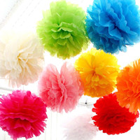 Tissue Paper Pom Pom | Bridal, Baby Shower, Wedding, Party Nursery Decor | Choose Your Size & Color