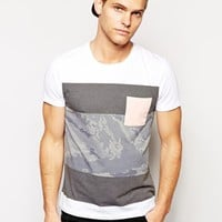 ASOS Stripe T-Shirt With Contrast Pocket