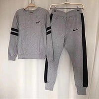 NIKE Women Pantsuit splicing letter printing fashion suit pullover Two piece