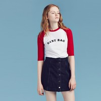 Lazy Oaf Dirt Bag Baseball T-shirt - Rebel girl - Featured - Womens