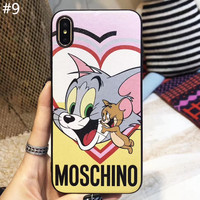 Moschino x Disney co-branded couple models iphone8 soft shell phone case cover #9