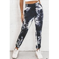 Sleepless In Seattle Dark Navy And White Tie Dye Joggers