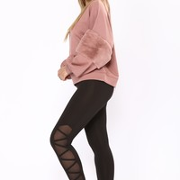 Skip A Beat Active Leggings - Black