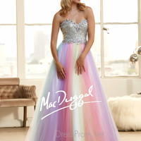 Strapless Sweetheart Prom Ball Gown By Mac Duggal 65086H