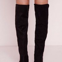 Missguided - Elastic Back Over The Knee Boots