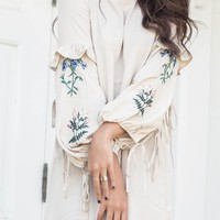 Look At Me Now Beige Embroidered Dress