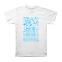 MGMT Men's  Summer 2010 Blue Logo Slim Fit T-shirt White