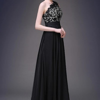 Lace & Tulle One-Shoulder Gown