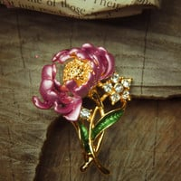 Chrysanthemum Brooch #5262