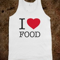 i love food tank top