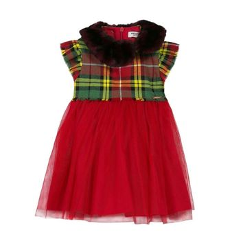 Junior Gaultier - Baby Girl Tulipe Dress With Removable Collar