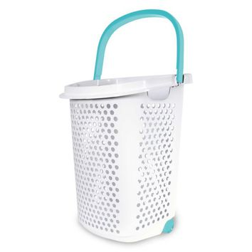 Laundry organized while keeping Rolling Hamper in White - Walmart.com