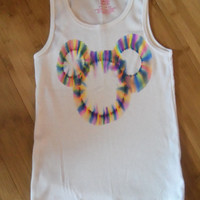 Adult Size - Mickey Mouse Tie Dye T-Shirt or Tank Top! Disney World Ready! Rainbow!