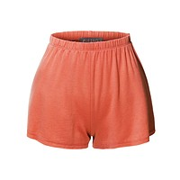Lightweight Casual Basic Elastic Waist Active Lounge Short (CLEARANCE)