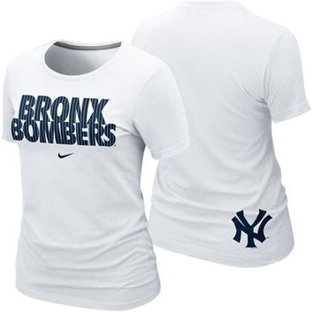 Nike New York Yankees Ladies Bronx Bombers Local Premium T-Shirt - White