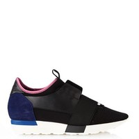 Technical fabric low-top trainers