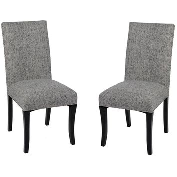 Accent Nail Side Chair In Ash Fabric (Set Of 2)
