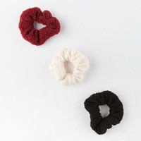 FULL TILT 3 Pack Red Teddy Scrunchies