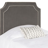 Dane Charcoal & Light Grey Piping Headboard Twin