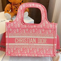 Wearwinds Dior New fashion more letter print shopping leisure crossbody bag shoulder bag Pink
